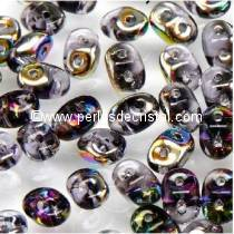 10GR SUPERDUO 2.5X5MM GLASS COLOURS TANZANITE VITRAIL 20500/28101