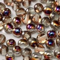 50 PERLES RONDES LISSES 4MM CRYSTAL SLIPERIT 00030/29500