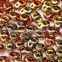 10GR MINIDUO® 2X4MM GLASS COLOURS CALIFORNIA GOLDEN RUSH 00030/98542