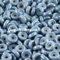 5GR PERLES WHEEL 6MM EN VERRE COLORIS OPAQUE BLUE CERAMIC LOOK 03000/14464