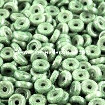 5GR PERLES WHEEL 6MM EN VERRE COLORIS OPAQUE GREEN CERAMIC LOOK 03000/14459