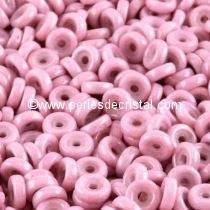 5GR PERLES WHEEL 6MM EN VERRE COLORIS OPAQUE LIGHT ROSE CERAMIC LOOK 03000/14494