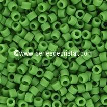 5gr SEED BEADS MIYUKI DELICA 11/0 - 2MM COLOURS OPAQUE GREEN MATTED DB0754 - OPAQUE PEA GREEN