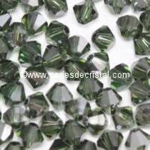 50 BICONES 4MM CRISTAL SWAROVSKI COLOURS MORION SATIN #5301