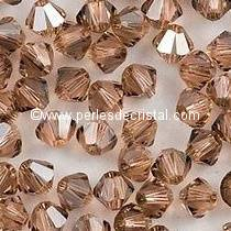 50 BICONES 4MM CRISTAL SWAROVSKI COLOURS LIGHT PEACH SATIN #5301
