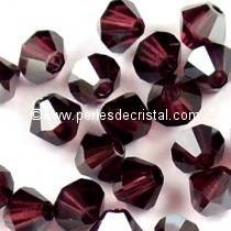 50 TOUPIES 4MM CRISTAL SWAROVSKI COLORIS BURGUNDY SATIN #5301