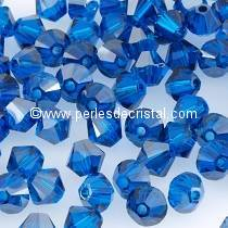 50 TOUPIES 4MM CRISTAL SWAROVSKI COLORIS CAPRI BLUE SATIN #5301