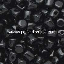 5GR BEADS MINOS® BY PUCA® 2.5X3MM COLOURS JET 23980 - BLACK