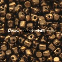 5GR PERLES MINOS® PAR PUCA® 2.5X3MM COLORIS DARK BRONZE 23980/14415