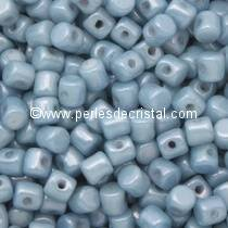5GR PERLES MINOS® PAR PUCA® 2.5X3MM COLORIS OPAQUE BLUE CERAMIC LOOK 03000/14464