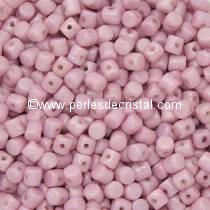 5GR PERLES MINOS® PAR PUCA® 2.5X3MM COLORIS OPAQUE LIGHT ROSE CERAMIC LOOK 03000/14494