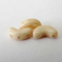 10GR BEADS ARCOS® PAR PUCA® 5X10MM COLOURS OPAQUE BEIGE CERAMIC LOOK 03000/14413 - LUSTER