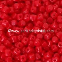5GR BEADS MINOS® BY PUCA® 2.5X3MM COLOURS OPAQUE CORAL RED 93200