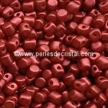 5GR BEADS MINOS® BY PUCA® 2.5X3MM COLOURS RED METALLIC MAT 03000/01890 METALLIC LAVA RED
