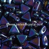 10GR KHEOPS® PAR PUCA® 6MM PERLES EN VERRE TRIANGLE METALLIC BLUE IRIS 23980/21435