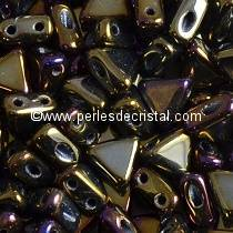 10GR KHEOPS® PAR PUCA® 6MM PERLES EN VERRE TRIANGLE COLORIS METALLIC BROWN IRIS 23980/21415