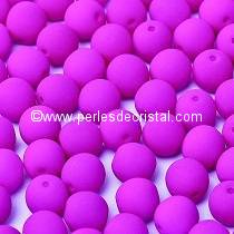 50 SMOOTH ROUND BEADS 3MM PURPLE NEON MAT 02010/25125 - NEON DARK PURPLE