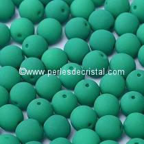 50 SMOOTH ROUND BEADS 3MM DARK GREEN NEON MAT 02010/25128 NEON DARK EMERALD