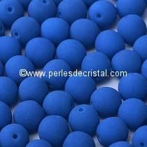 50 PERLES RONDES LISSES 4MM AQUAMARINE NEON MAT 02010-25127