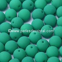 50 SMOOTH ROUND BEADS 4MM DARK GREEN NEON MAT 02010/25128 - NEON DARK EMERALD