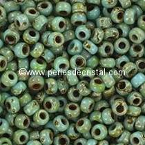 10gr PERLES ROCAILLES MIYUKI 11/0 - 2MM COLORIS OPAQUE BLUE TURQUOISE PICASSO - 4514