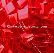 5GR TILAS MIYUKI 5X5MM GLASS BEADS COLOURS RED TL-0140