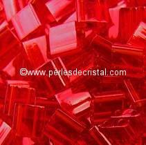 5GR PERLES TILAS MIYUKI 5X5MM RED TL-0140 / ROUGE