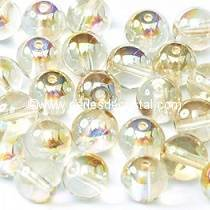 50 PERLES RONDES LISSES 4MM CRYSTAL LEMON RAINBOW 00030/98534