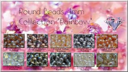 ROUNDS 4MM - RAINBOW