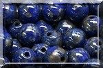 50 PERLES RONDES LISSES 4MM OPAQUE SAPPHIRE PICASSO 33050/43400
