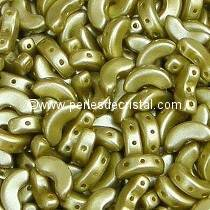 10GR BEADS ARCOS® PAR PUCA® 5X10MM COLOURS PASTEL LIME 02010/25021