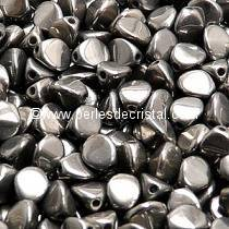 50 PINCH 5X3MM EN VERRE COLORIS FULL CHROME 00030/27400