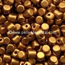 5GR BEADS MINOS® BY PUCA® 2.5X3MM COLOURS BRONZE GOLD MAT 00030/01740