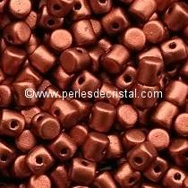 5GR PERLES MINOS® PAR PUCA® 2.5X3MM COLORIS BRONZE RED MAT 00030/01750
