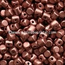 5GR BEADS MINOS® BY PUCA® 2.5X3MM COLOURS COPPER GOLD MAT 00030/01780