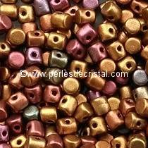 5GR BEADS MINOS® BY PUCA® 2.5X3MM COLOURS YELLOW GOLD METALLIC IRIS 00030/01620