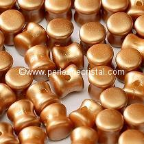 50 PELLETS / DIABOLO 4X6MM GLASS COLOURS PASTEL AMBER - 02010/25003