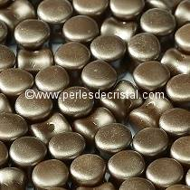 50 PELLETS / DIABOLO 4X6MM GLASS COLOURS COLOURS PASTEL LIGHT BROWN COCO - 02010/25005