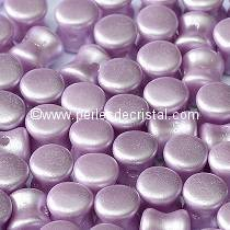 50 PELLETS / DIABOLO 4X6MM EN VERRE COLORIS PASTEL LIGHT LILA - 02010/25011