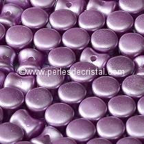 50 PELLETS / DIABOLO 4X6MM GLASS COLOURS PASTEL LILA - 02010/25012