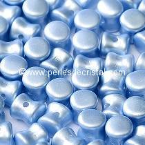 50 PELLETS / DIABOLO 4X6MM EN VERRE COLORIS PASTEL LIGHT SAPPHIRE - 02010/25014