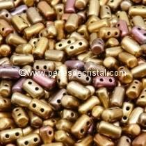 10GR RULLA 3X5MM GLASS COLOURS GOLD RAINBOW 00030/01610