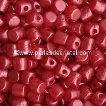 5GR BEADS MINOS® BY PUCA® 2.5X3MM COLOURS PASTEL DARK CORAL 02010/25010