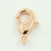 Fermoir mousqueton coloris ROSE - GOLD 12X7X3mm