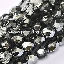 50 BOHEMIAN GLASS FIRE POLISHED FACETED ROUND BEADS 4MM CRYSTAL EARTHTONE METALLIC ICE 00030/67437