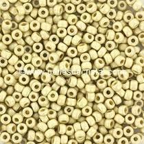 10gr PERLES ROCAILLES MIYUKI 11/0 - 2MM COLORIS DURACOAT GALVANIZED MAT SILVER 4201F - ARGENT