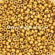 10gr PERLES ROCAILLES MIYUKI 11/0 - 2MM COLORIS DURACOAT GALVANIZED MAT GOLD 4202F - DORE - OR