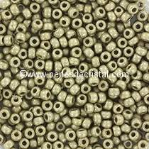 10gr PERLES ROCAILLES MIYUKI 11/0 - 2MM COLORIS DURACOAT GALVANIZED MAT LIGHT PEWTER 4221F