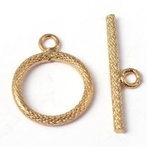 Round toggle clasp 20x16 mm + bar 25 mm - GOLD
