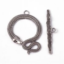 Snake toggle clasp 50mm + bar 51 mm - SILVER